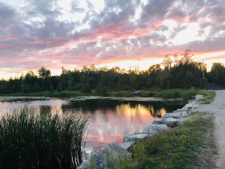 sunset pond
